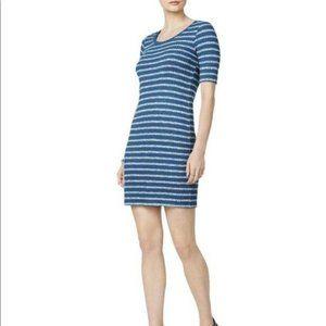 NWT Kensie Blue Womens Striped Sheath Casual Dress
